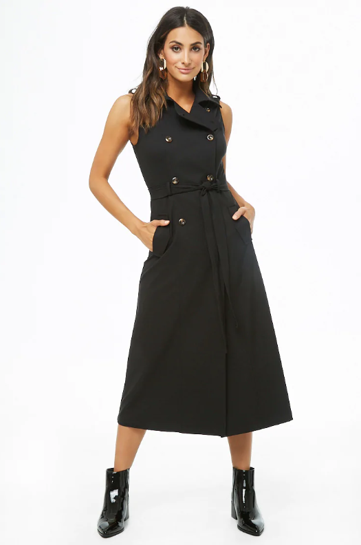 Forever 21 Belted Trench Dress, $38