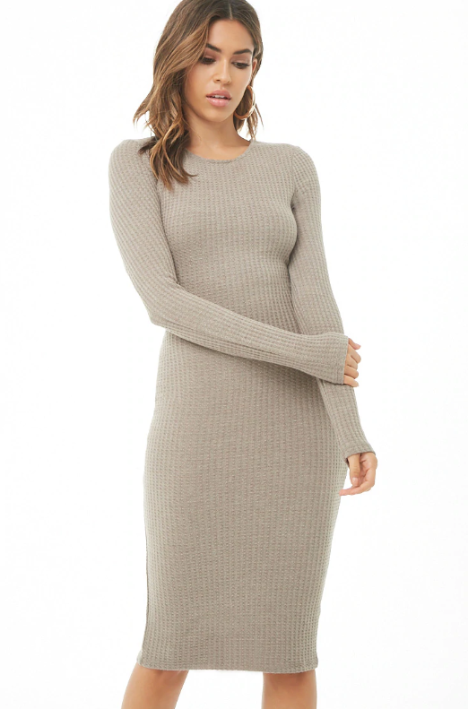 Forever 21 Waffle Knit Bodycon Dress, $28