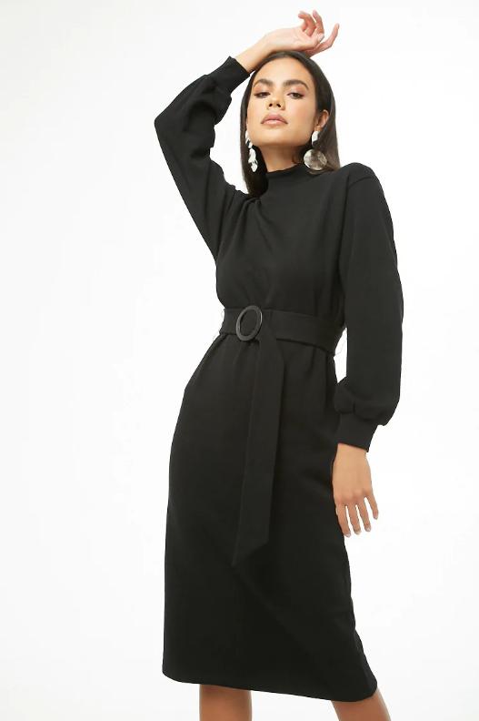 Forever 21 Mock Neck Knee-Length Dress, $22.90