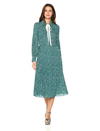 Dear Drew by Drew Barrymore Women's Cubist Long Sleeve Dress, $188;  amazon.com