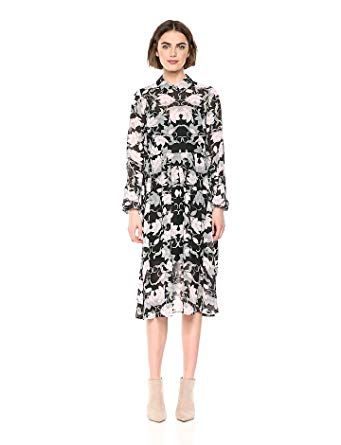 Avec Les Filles Women's Long Sleeve Floral Dress, $138;  amazon.com