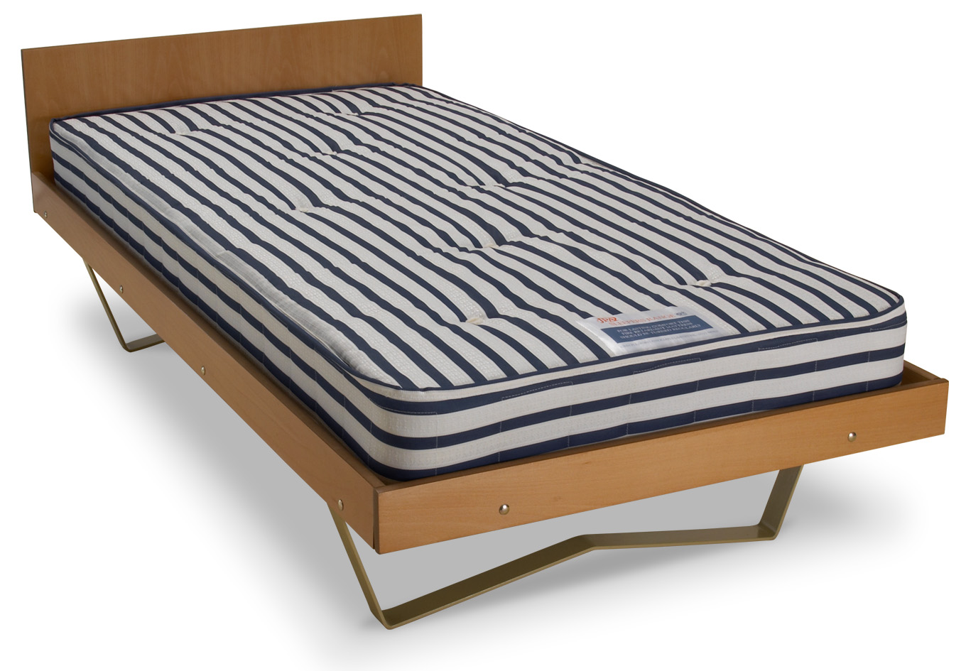Classic with flat weld skid legs mattress and wood surround and optional headboard.jpg
