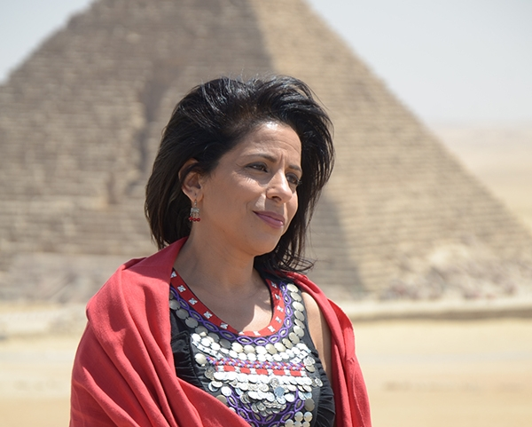 7.  Mona in front of pyramids.JPG