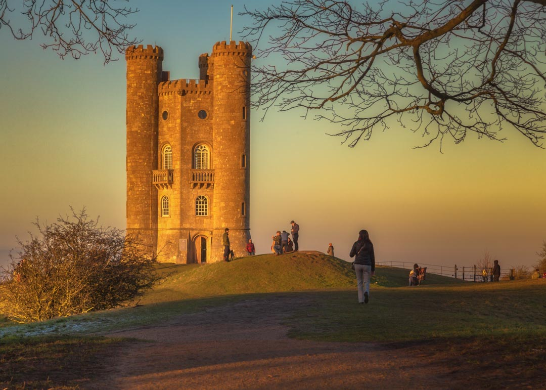 Broadway Tower Naturally Framed