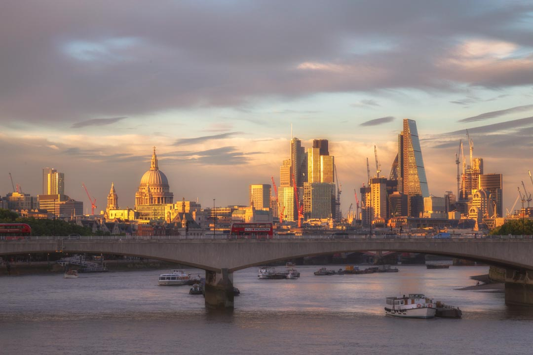 Sunset Light on London's Skyline