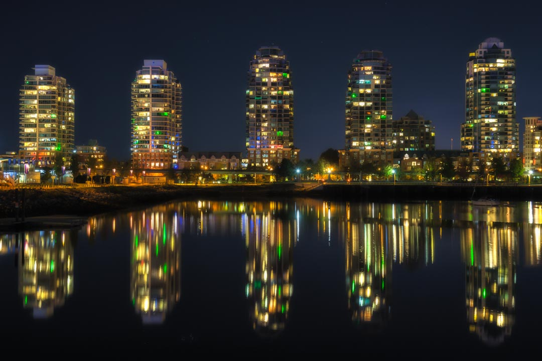Vancouver Night Reflections