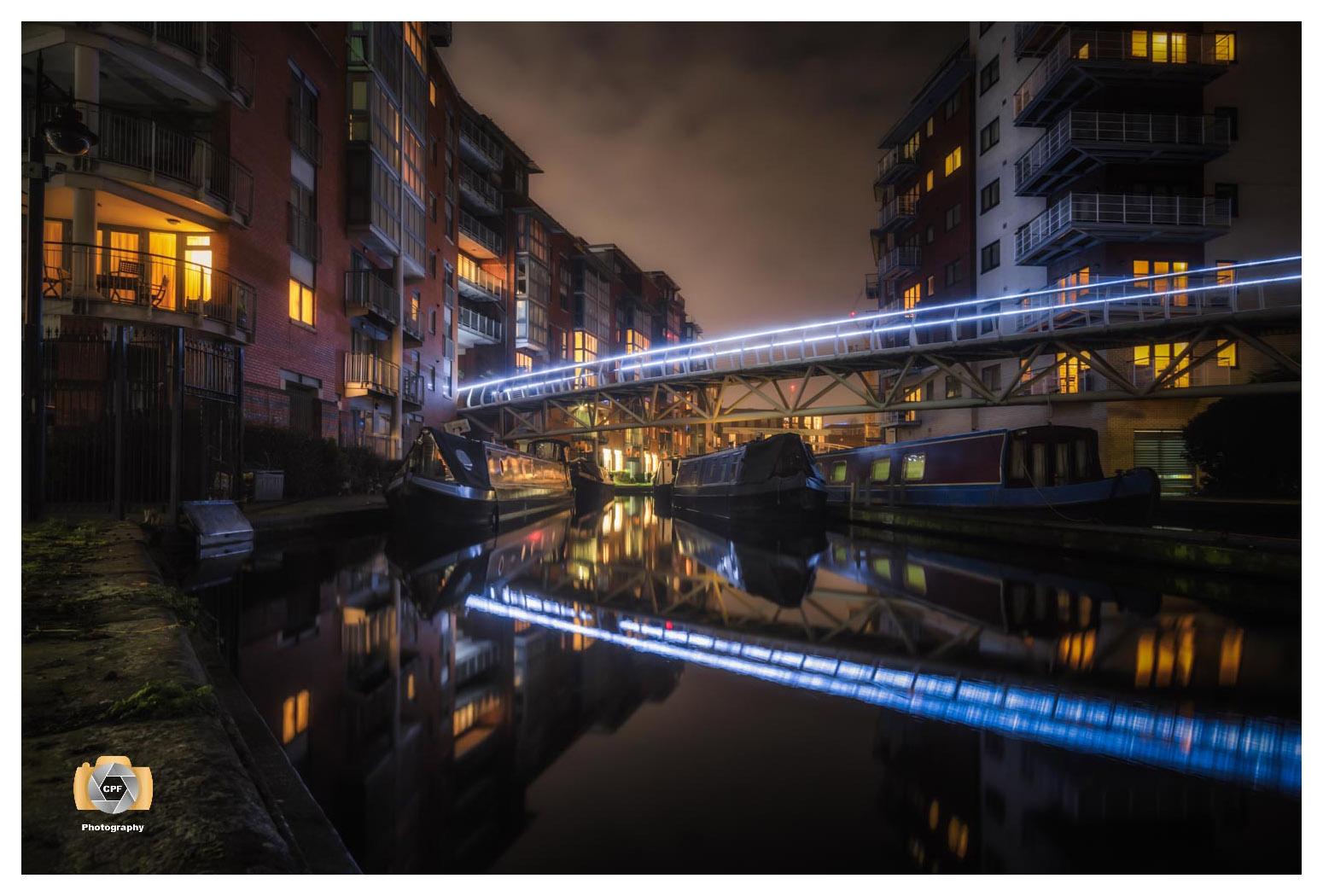 Night In Sherborne Wharf Boat Park