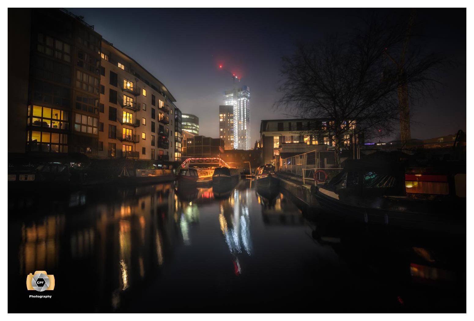 Sherborne Wharf At Night