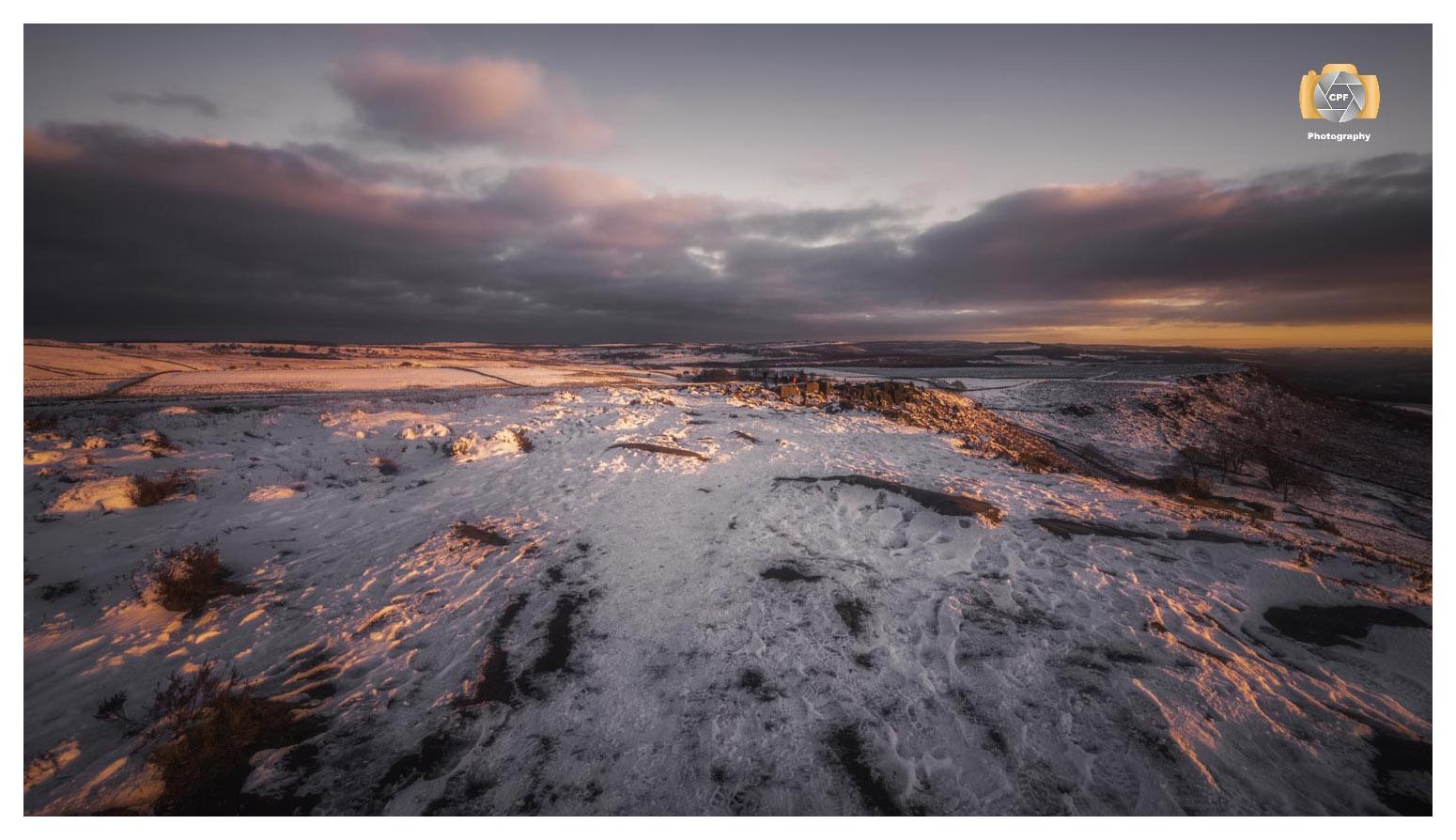 Curbar Edge Sunset No 4