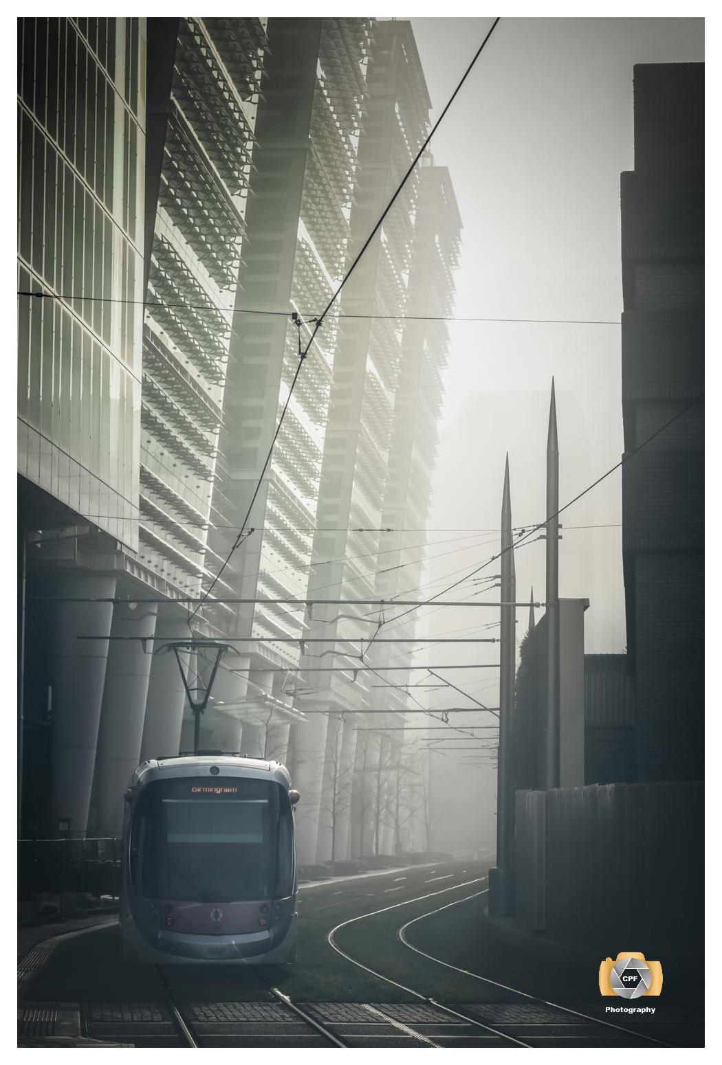 Misty Tramline Sunrise No 1