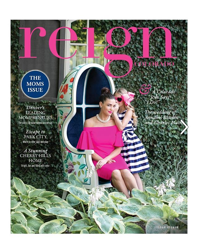 """Very honored to be featured in """"The Moms Issue"""" of @reignmag this month. I'm happy to share a DEEPLY PERSONAL essay about life as a mother + author with CF, my recommendations for new moms on how to get 🍷 to your house ASAP during witching-hour and more about 🌎 #WHEEZIESETEVENS 🌎 [Pages 78, 79 & 80 • LINK IN BIO] Xx Jenny"""