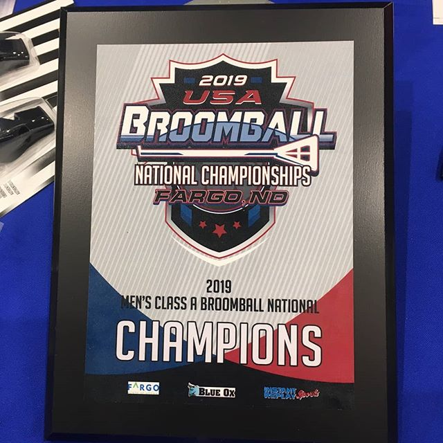 Lots of fun at the Fargo national championships last weekend. Great job players! #fargo40 #nationals #francebroomball #fargo #nd #loves #mn #smallbusiness #broomball #instantreplaysports #sponsors