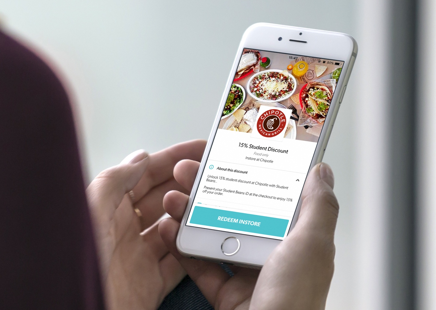 Your dedicated student discount screen - We provide you with your own dedicated student discount screen in the Student Beans app.