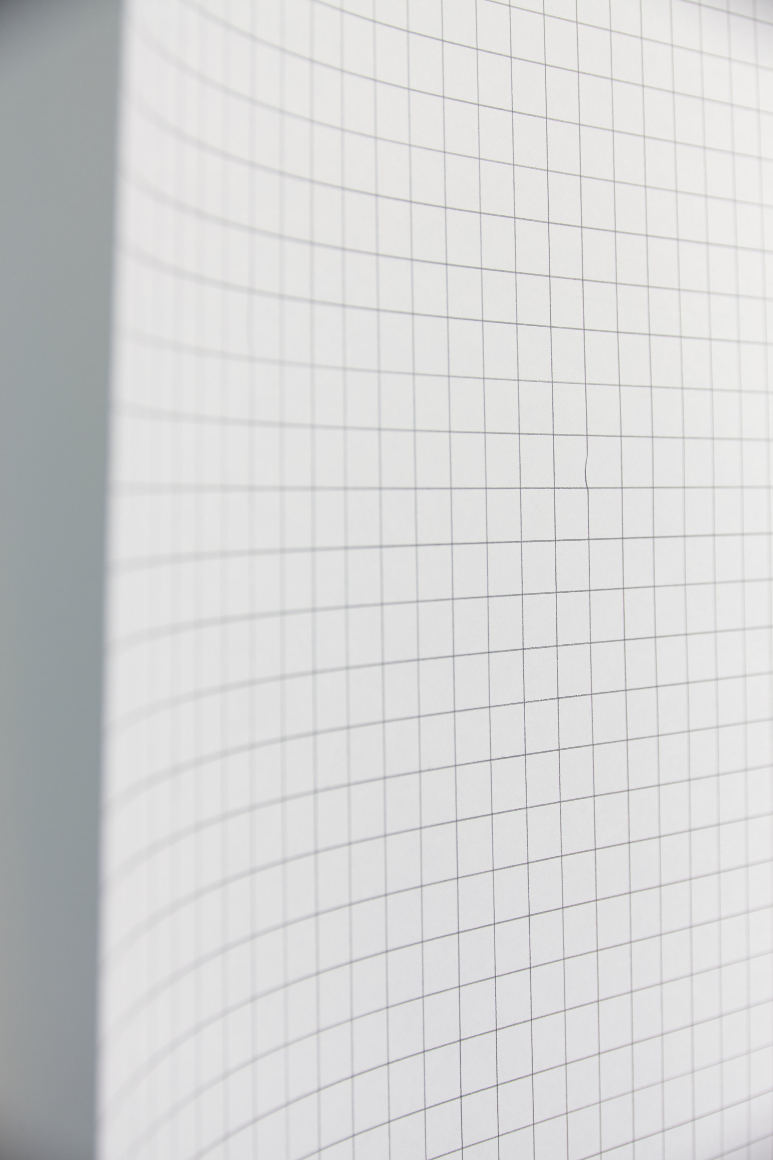 Elísabet Brynhildardóttir   Ég vildi gera rétt / Grid.  2018 (detail). Size of each box is 1.5 cm. Installed drawing is 677 cm x 196 cm. Pencil on paper.  photo Vigfús Birgisson