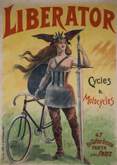 the liberator bicycle - The Liberator bicycle was so aptly named and their ads were inspired by Valkyries or Amazons.