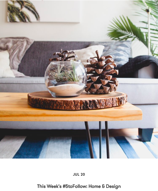 This Week's #5toFollow: Home & Design
