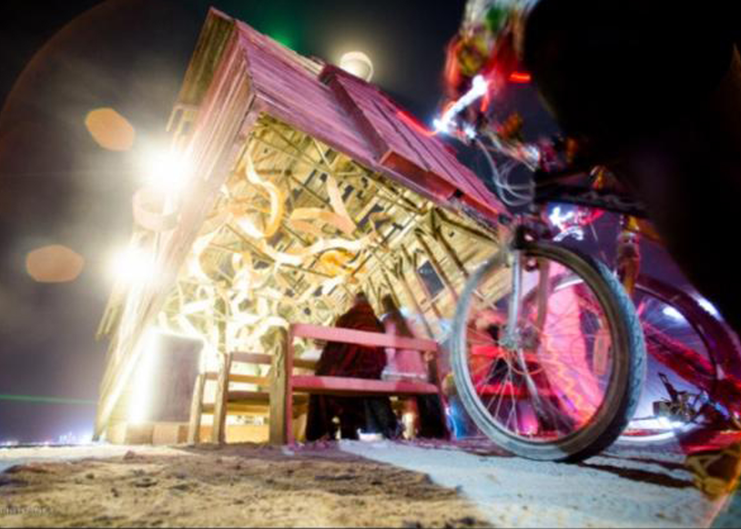 Looking inside at Ribbons of Music at The Church Trap. Jena Priebe. Burning Man 2013.jpg