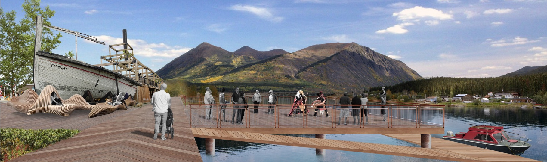 CARCROSS MARINA DESIGN + FEASIBILITY - Yukon government hired 3Pikas to explore the possible infrastructure and development potential of building a marina on Natasaheeni River in Carcross.