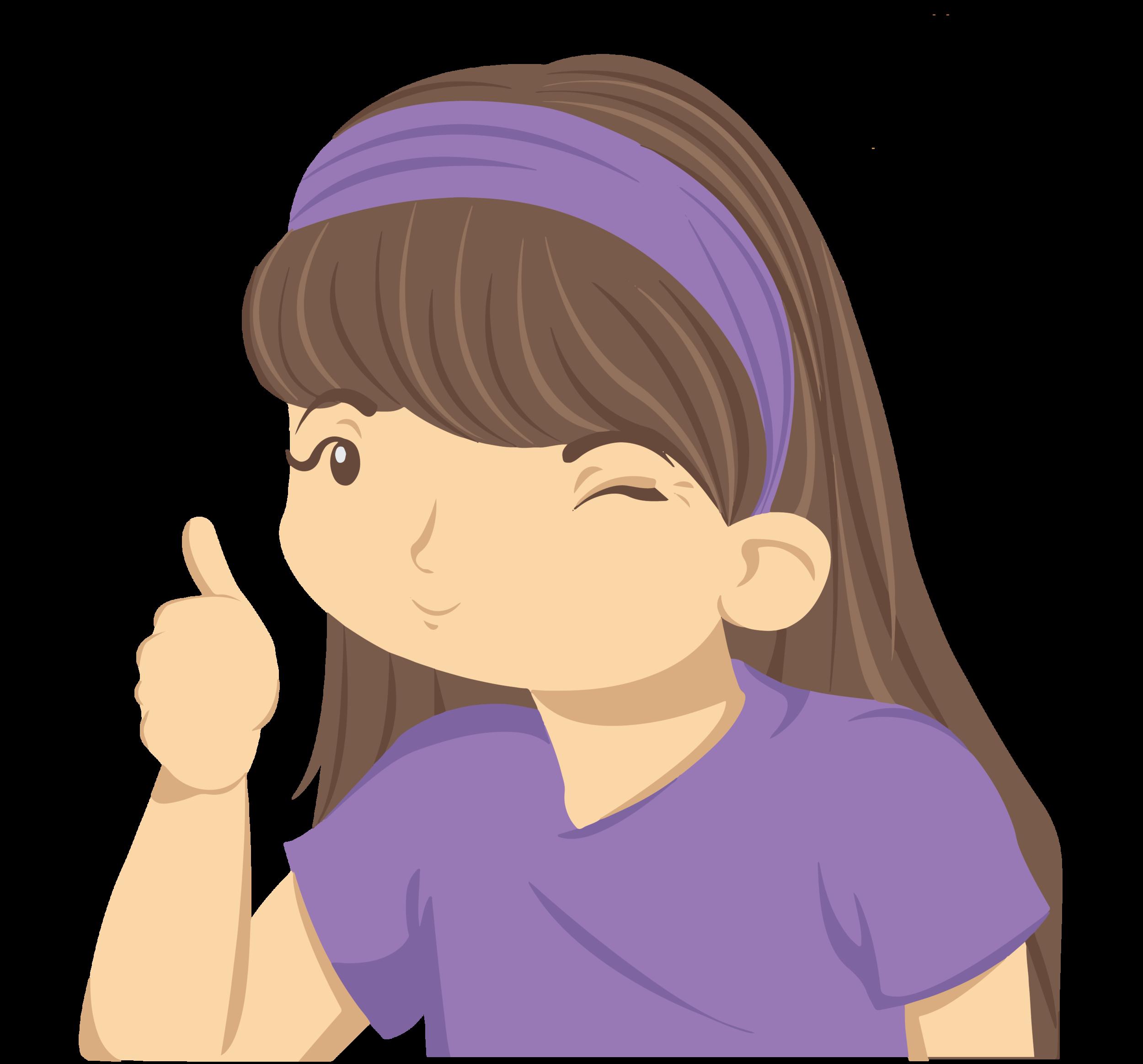 Let's Chat Books Illustration of Girl