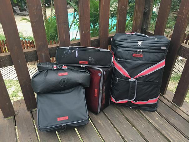 The LeanPac® family of travel bags on vacation!
