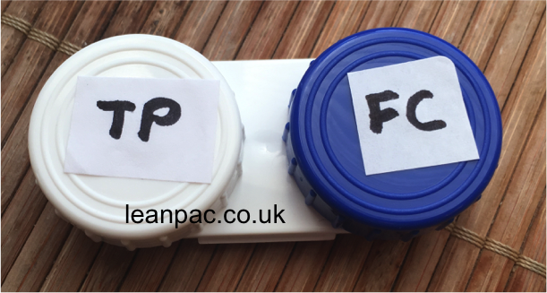 Reuse contact lens case! Face cream & toothpaste for a quick trip. Perfect containers, just make sure to use visual cues to differentiate and don't dip the toothbrush into face cream!