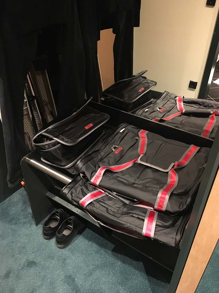 The perfectly matching JamPac® & OrgPacs, unpacked, safely tugged away, flattened and taking up minimal storage space. Get yours now!