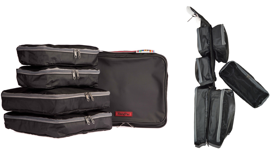 Turn the extra large HangPac toiletries bag into an overnight bag by adding extra pockets, if needed. 1 or 2 days worth of clothes? Build it up with modules! Extra pockets available separately!