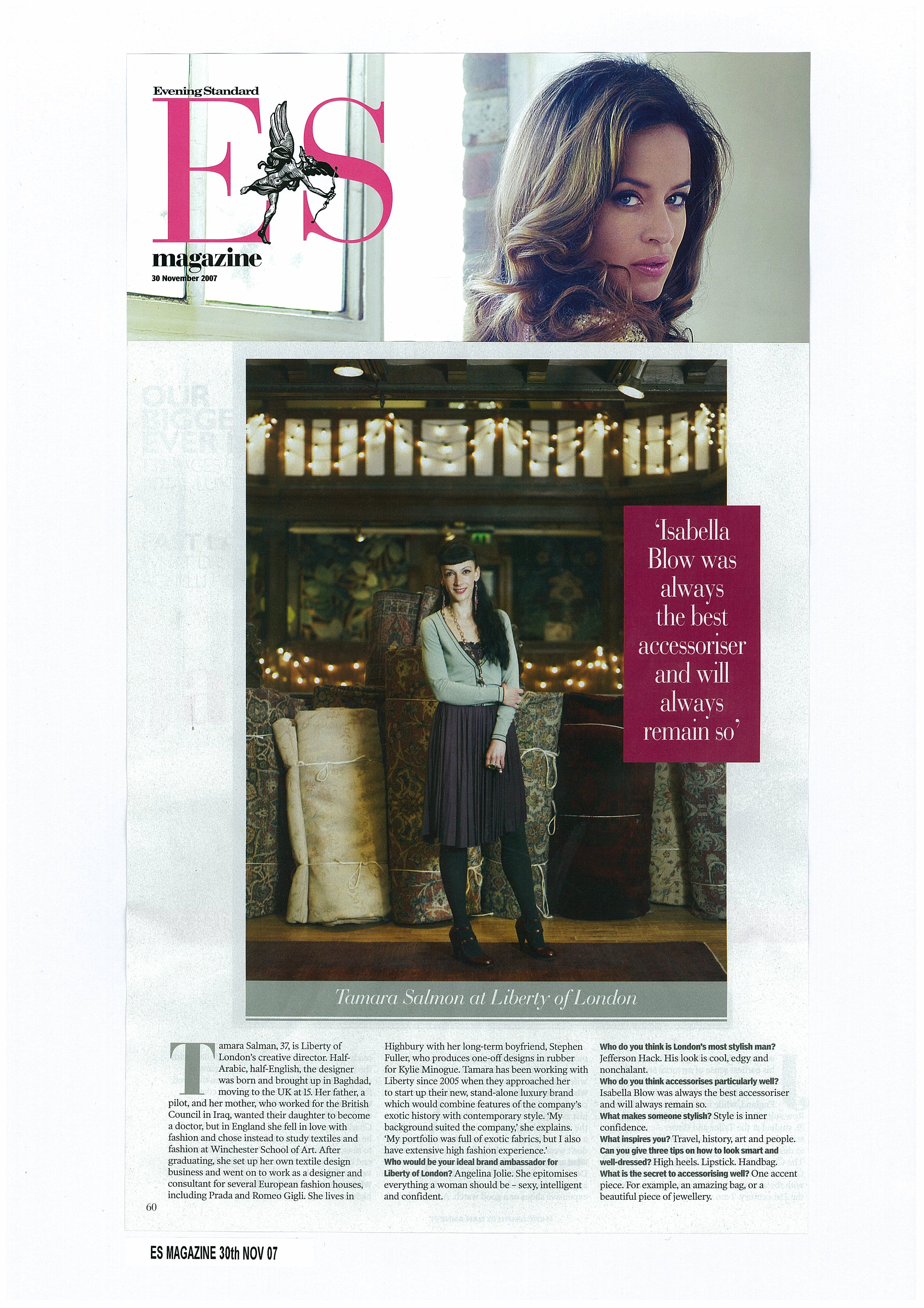 ES Magazine, 30th Nov.07.jpg