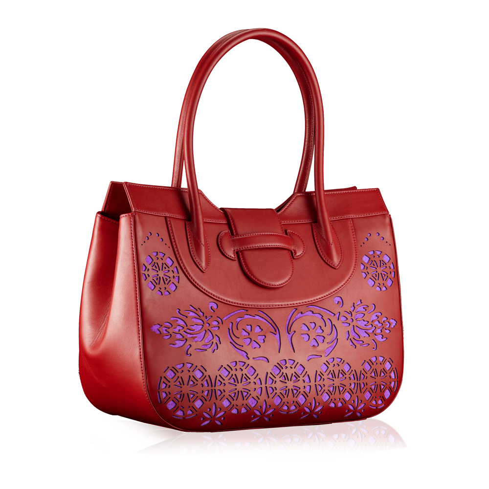 Tote laser cut Deep Red