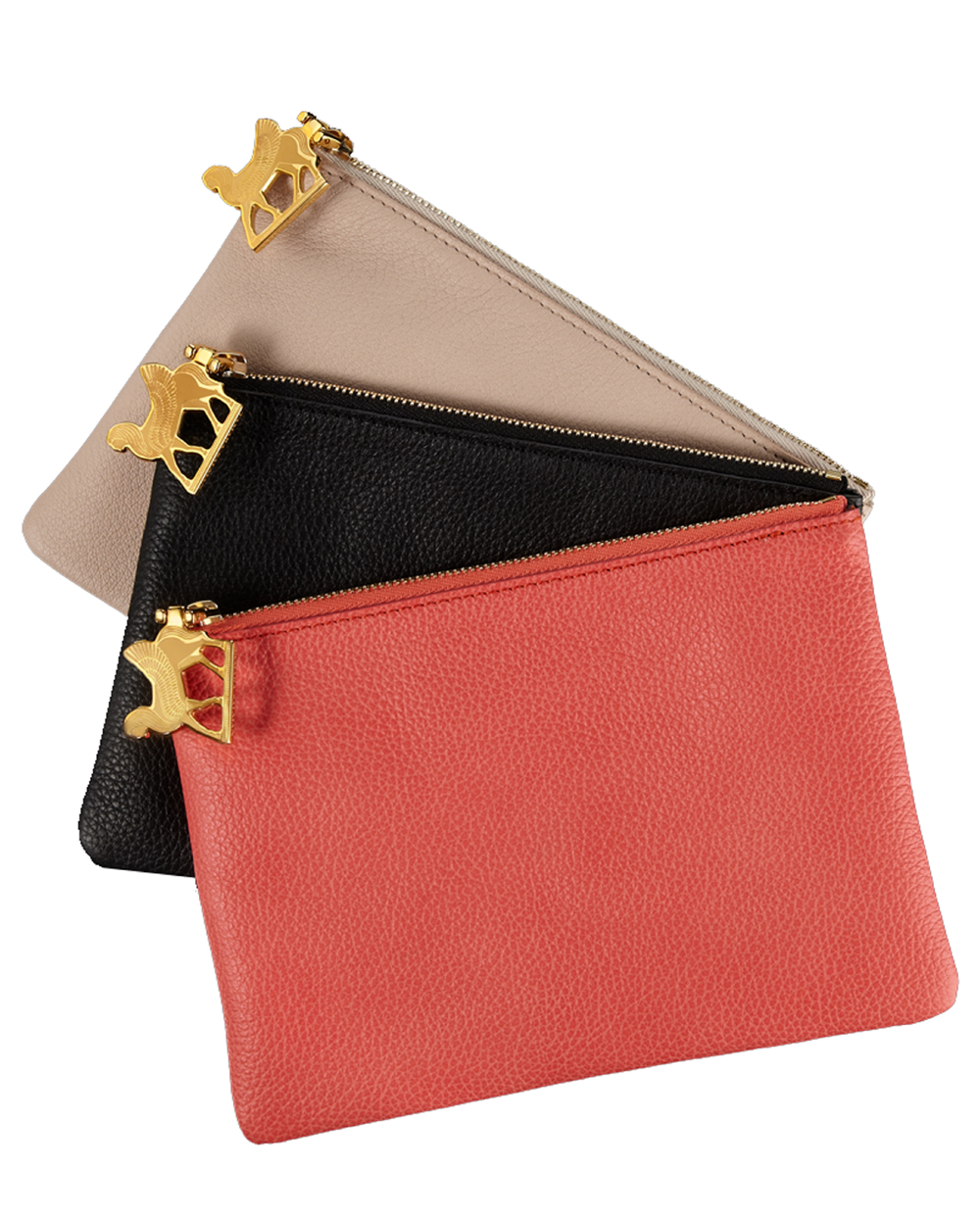 Purses with logo zip pull