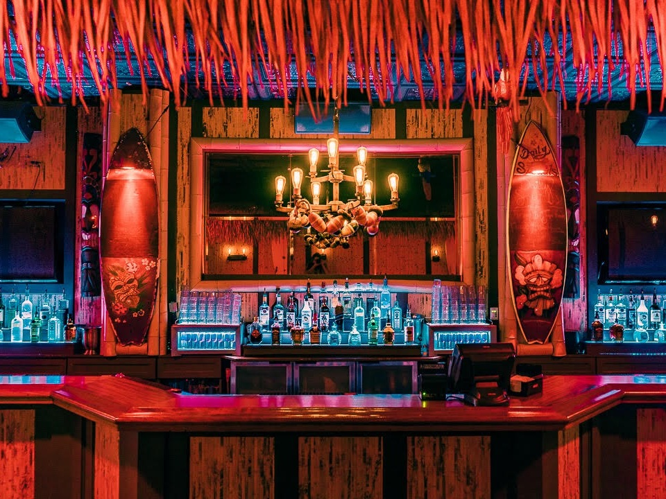 THE BAMBOO ROOM - features island Tiki vibes, tropical cocktails, and could be considered house music lover's paradise. With a live DJ every night, unique specialty cocktails, and multiple high-top seating areas, its the perfect way to start your evening.