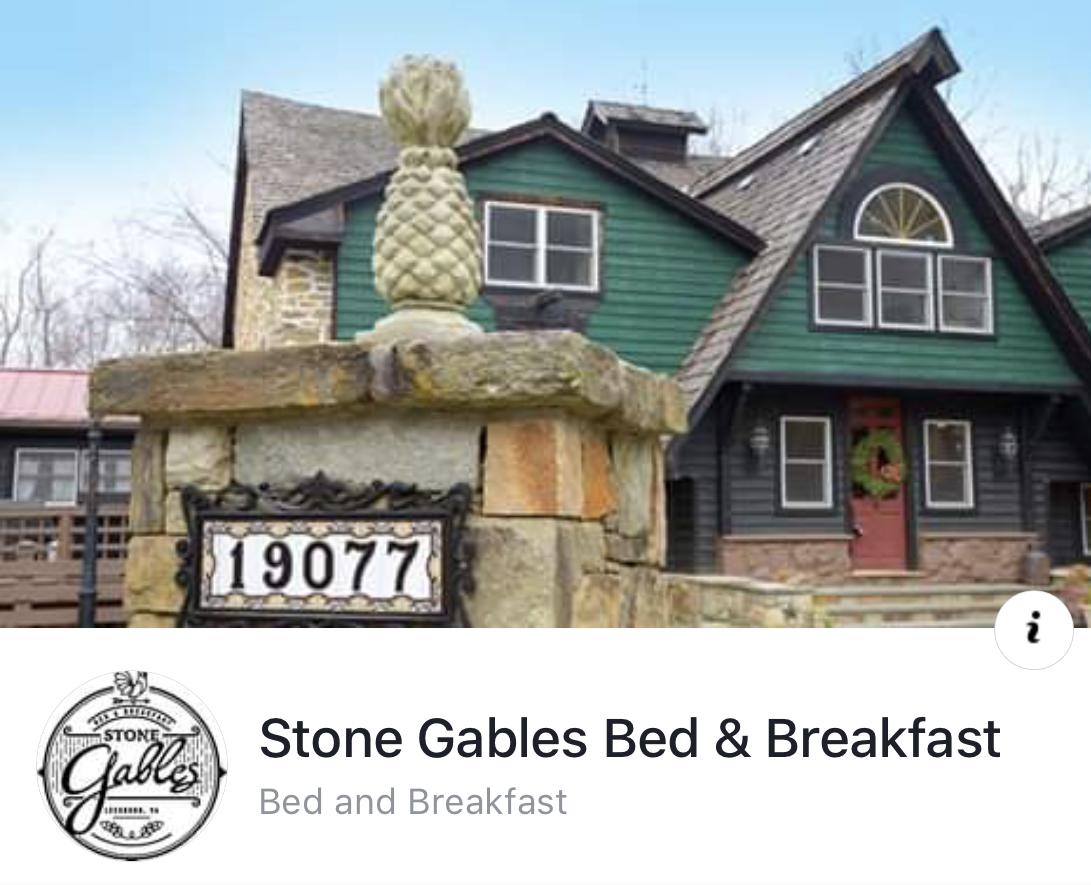 - Stone Gables Bed & Breakfast19077 Loudoun Orchard RdLeesburg, Virginia 20175703-303-6364