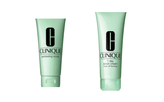 Clinique's Exfoliating and 7 Day Scrub
