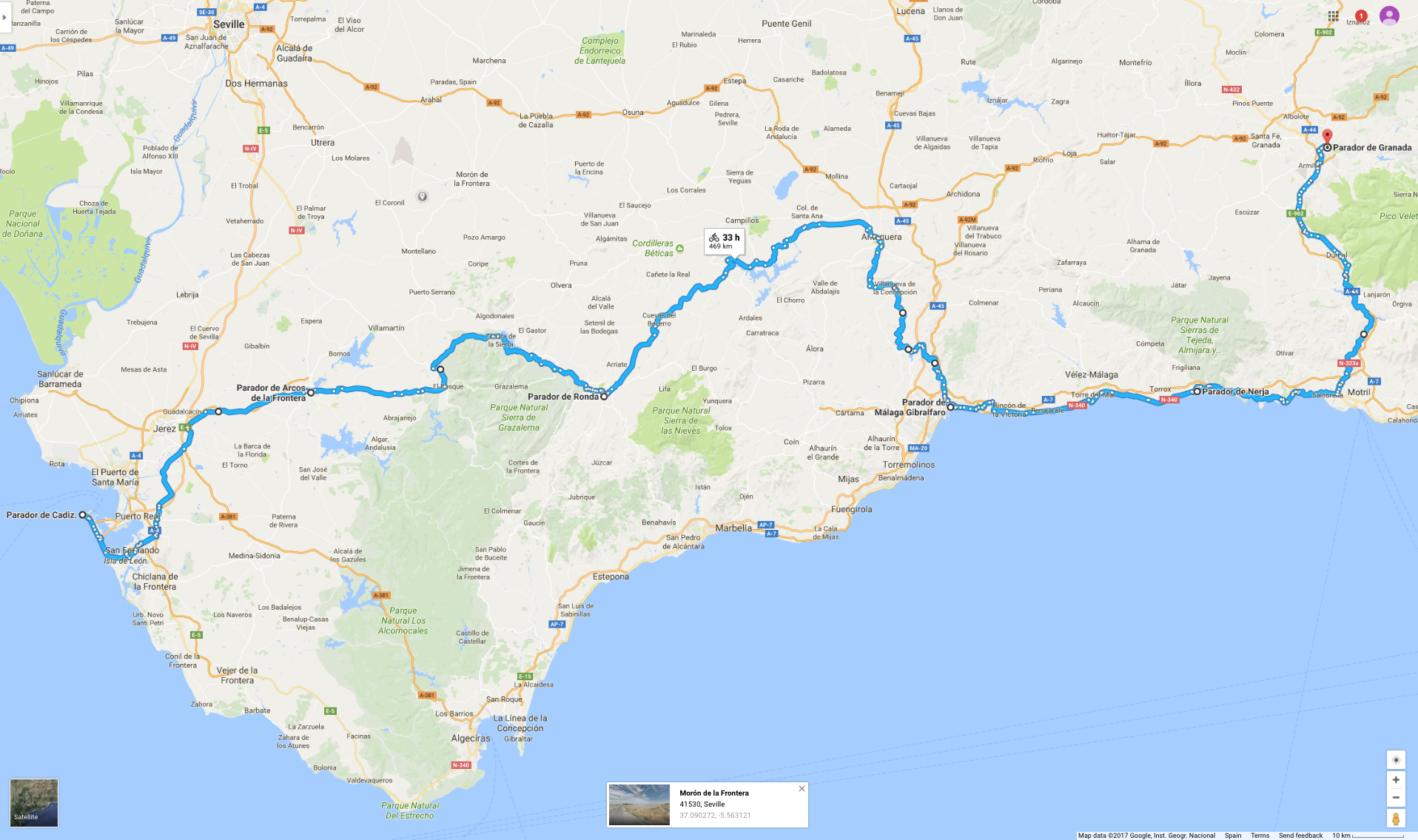 Love Spain 2018 Cycle Route.png