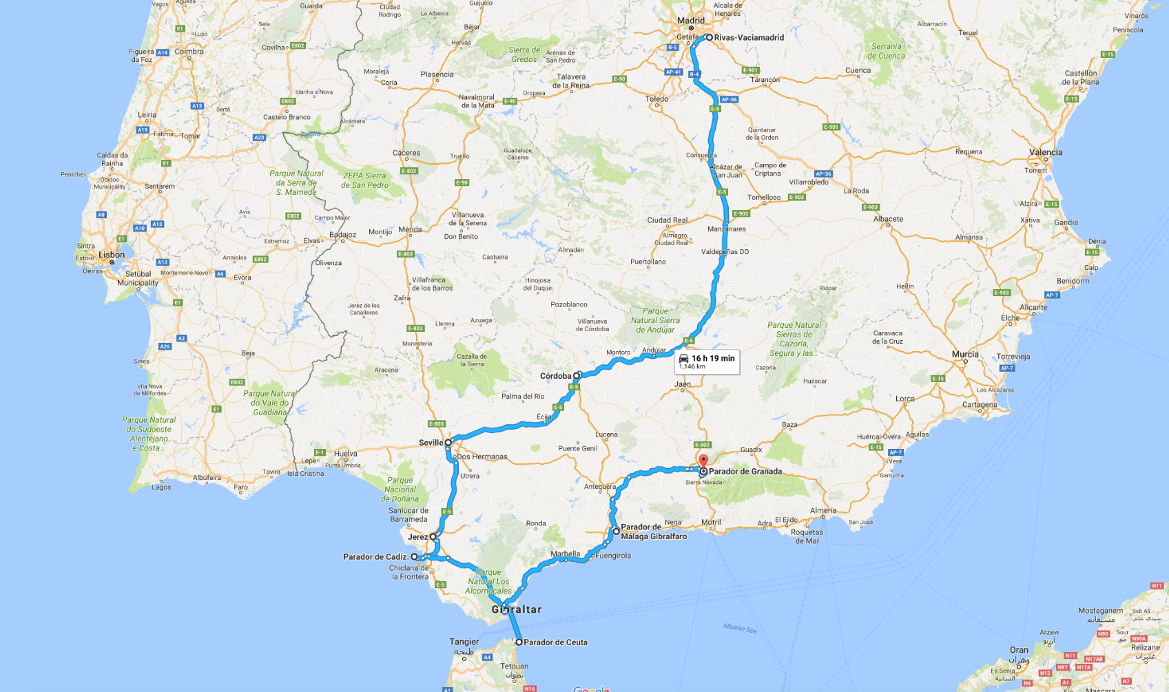 Love Spain 2018 Vision Trip Route.png