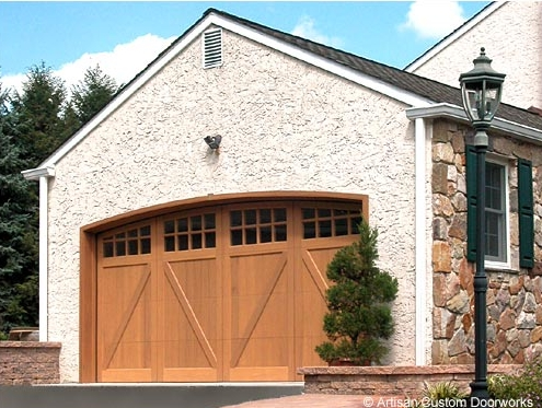 Cambridge Carriage House Door Style in Newton, MA