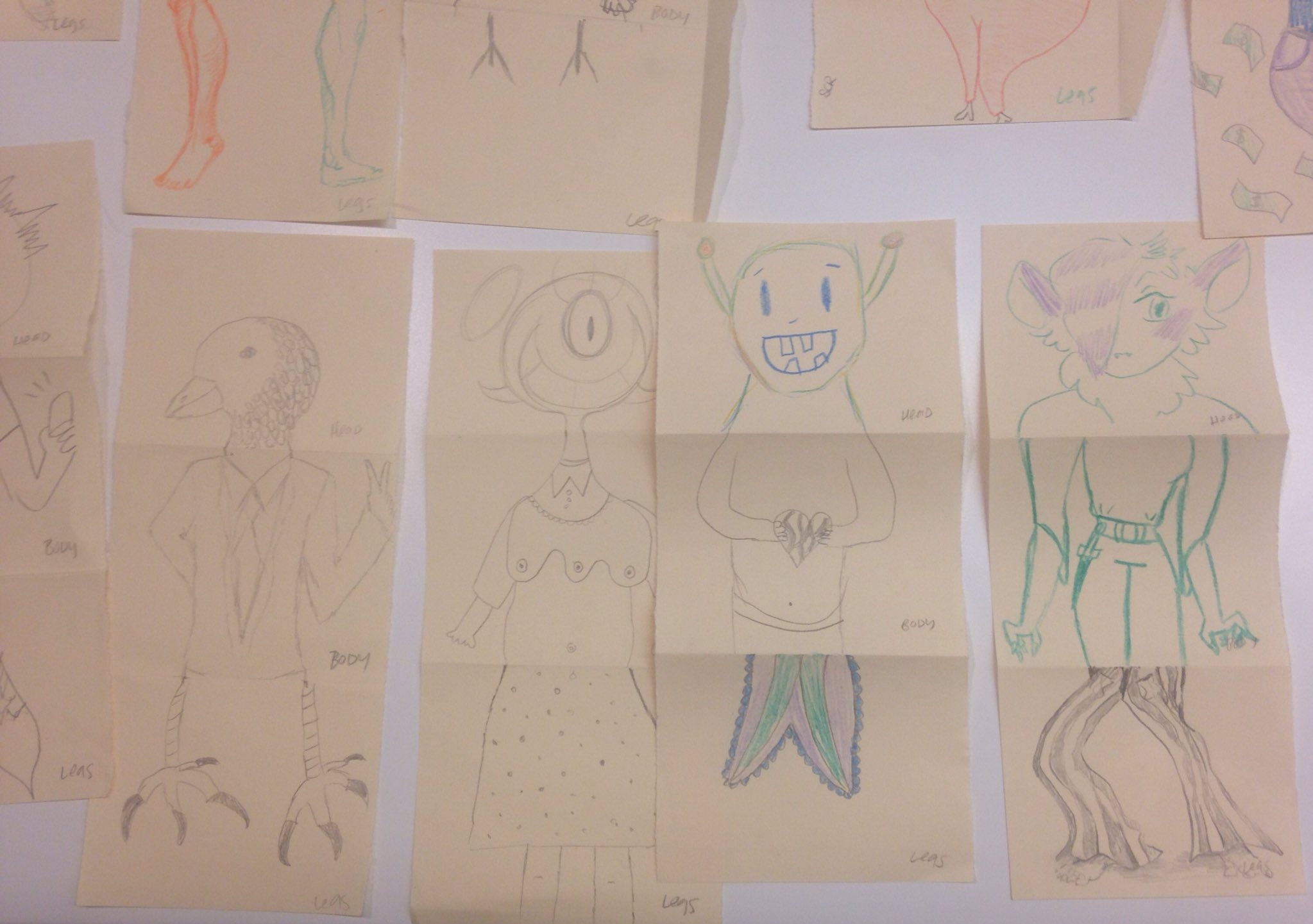 exquisite corpses by museum visitors