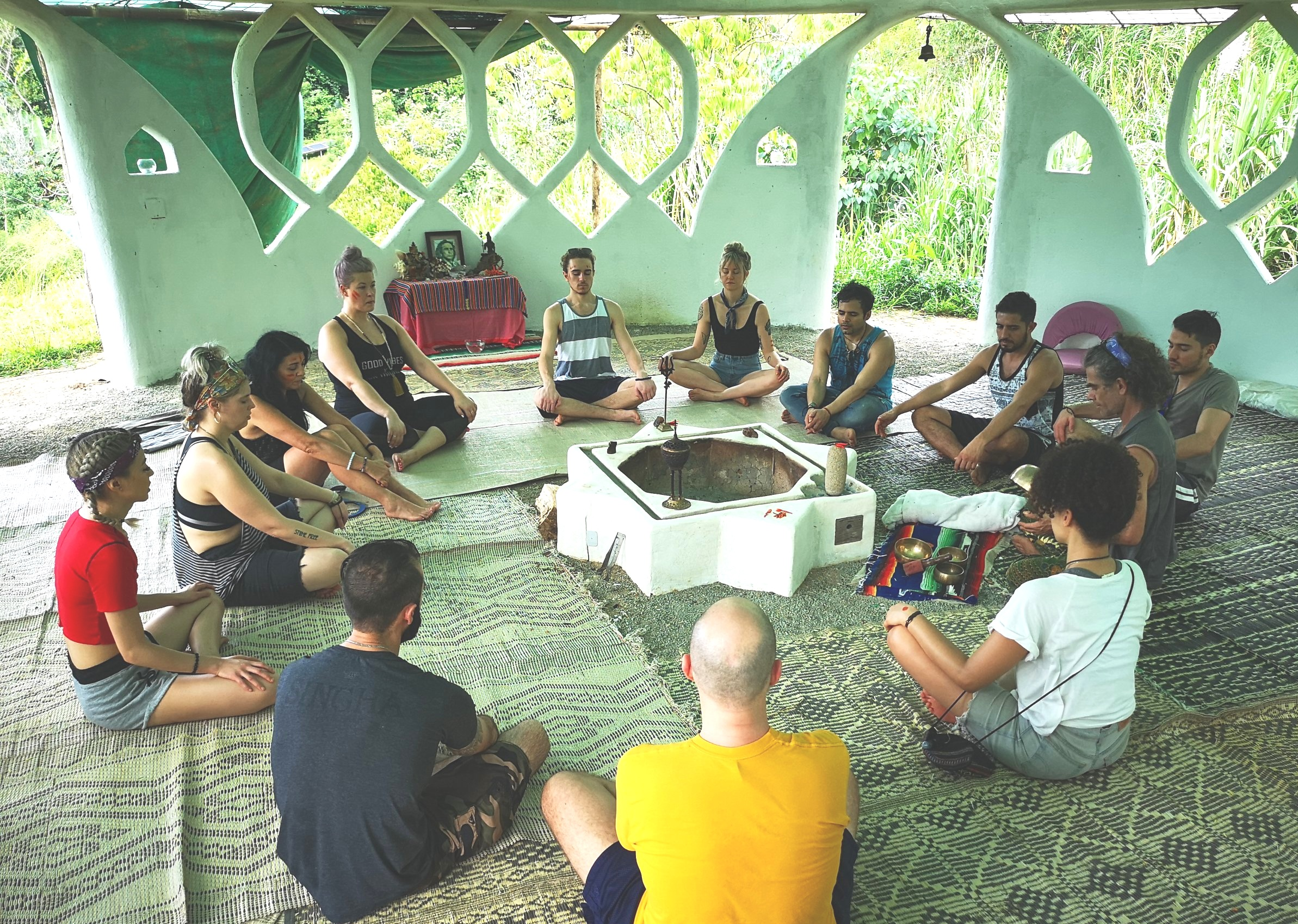 Meditation in the Babaji Fire Temple