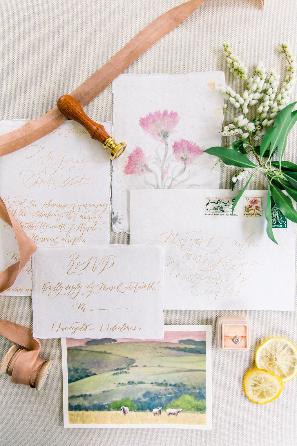 Wedding Suite calligraphy.