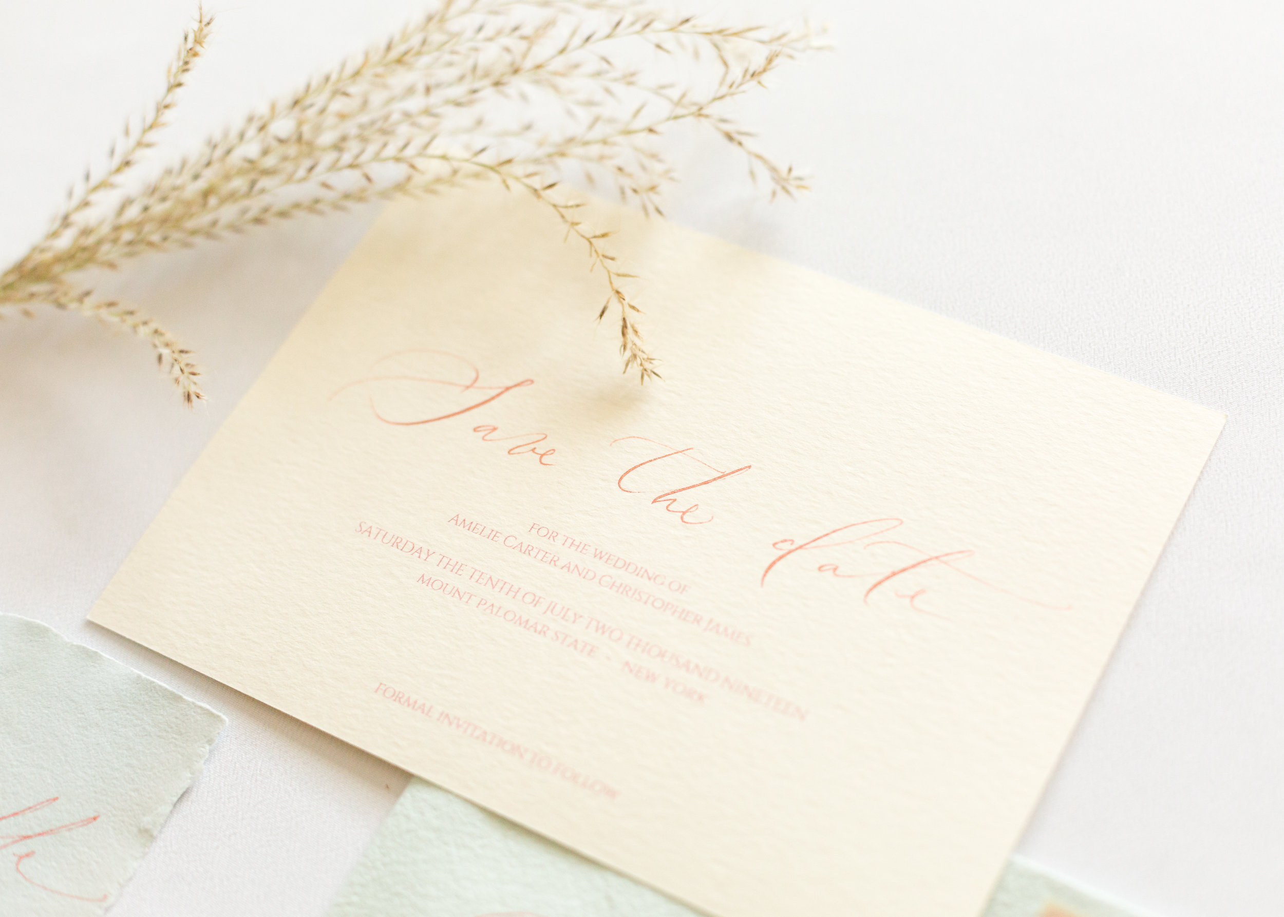 Timeless Romantic Wedding Calligraphy Save the date - Esperanza Atelier Fine Art Calligraphy. Bespoke Wedding envelope Calligraphy Houston weddings -  Houston Calligrapher.