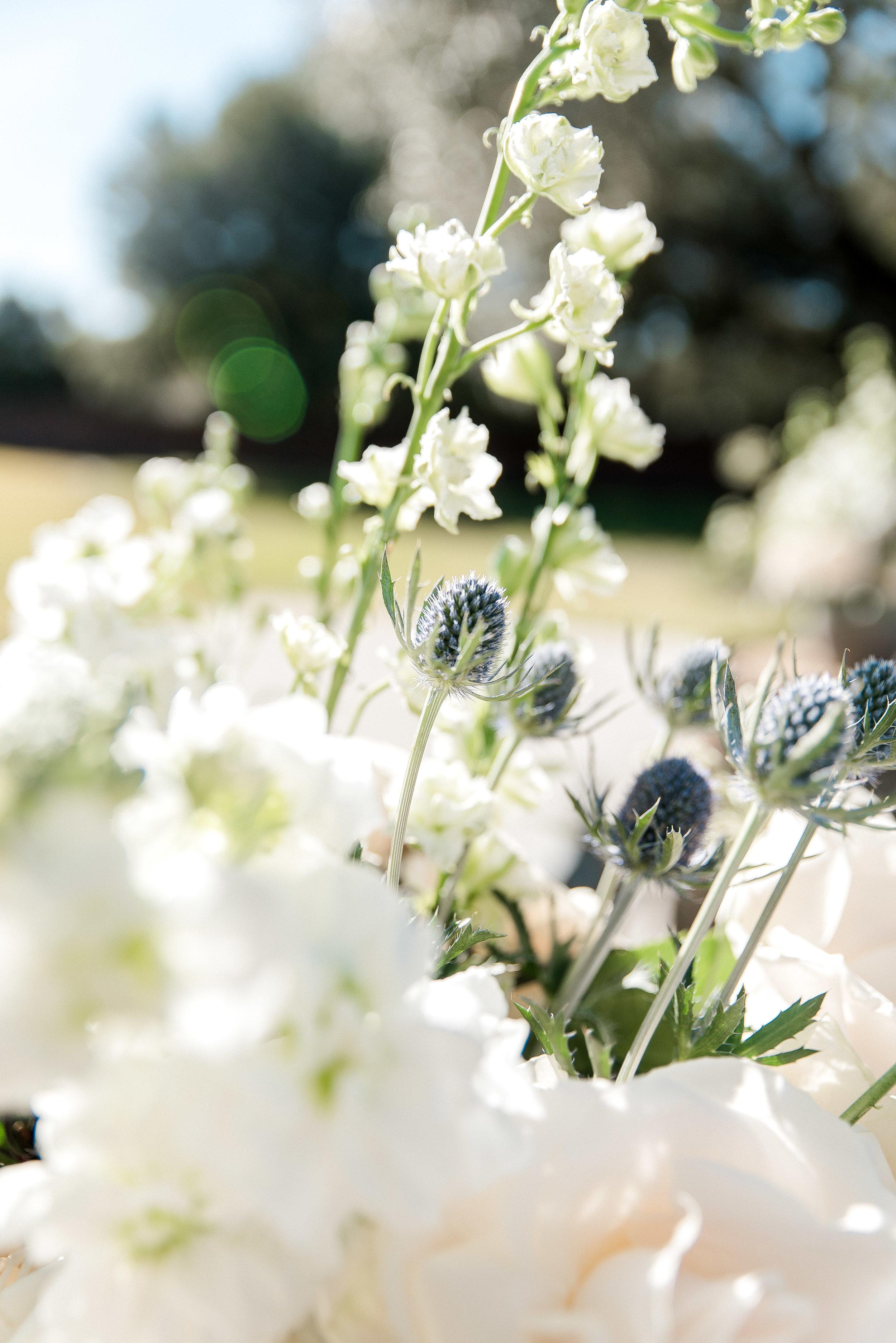 White Wedding Florals.