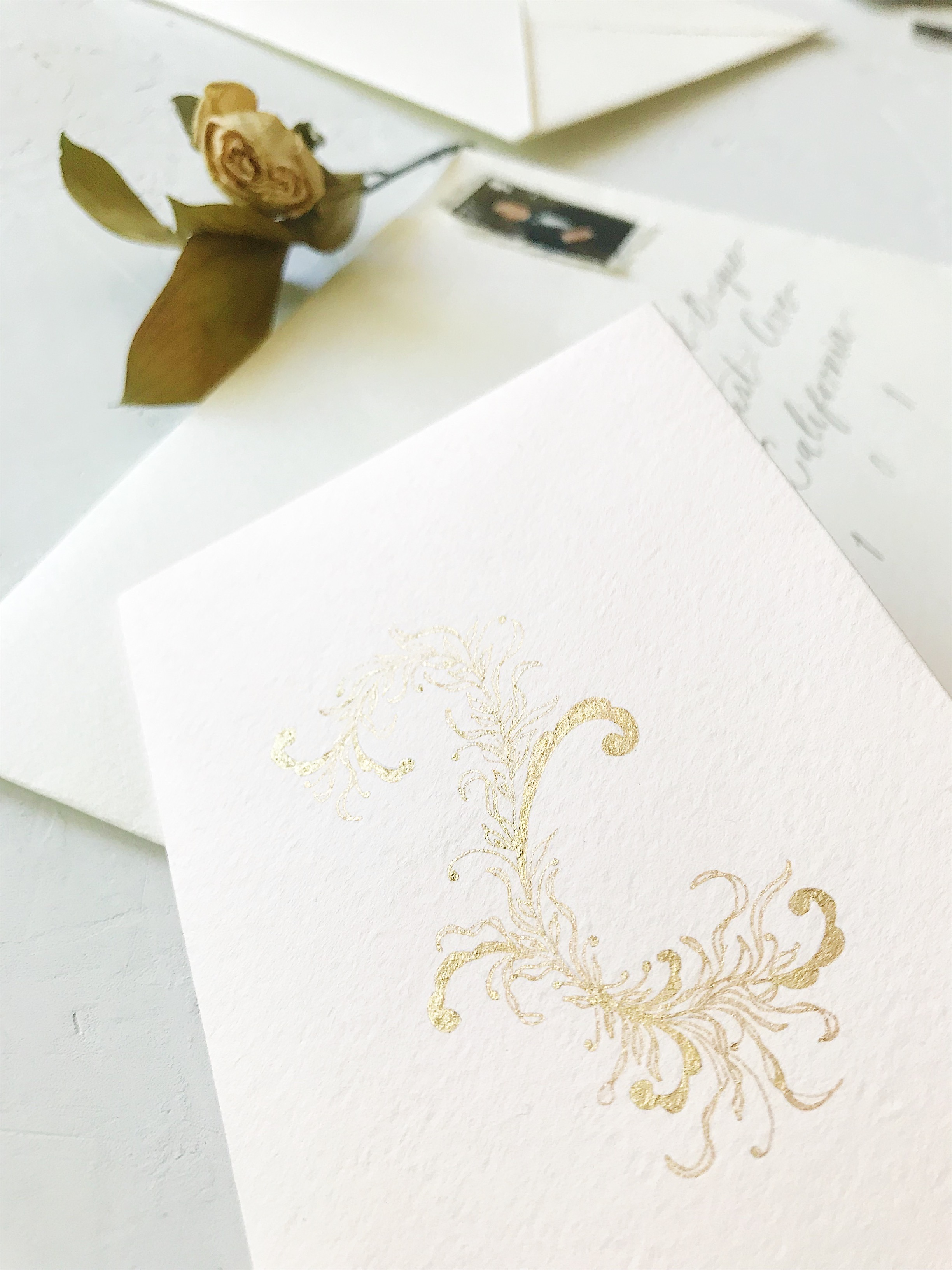 Bespoke Wedding Calligraphy Invitation Suite - Esperanza Atelier Fine Art Calligraphy.