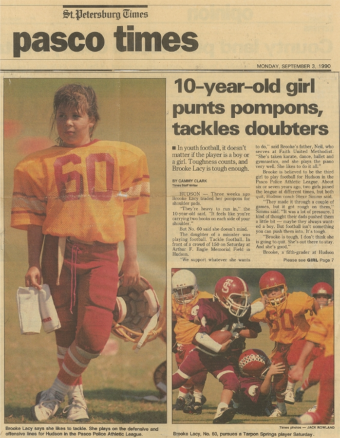My first newspaper article. circa 1990