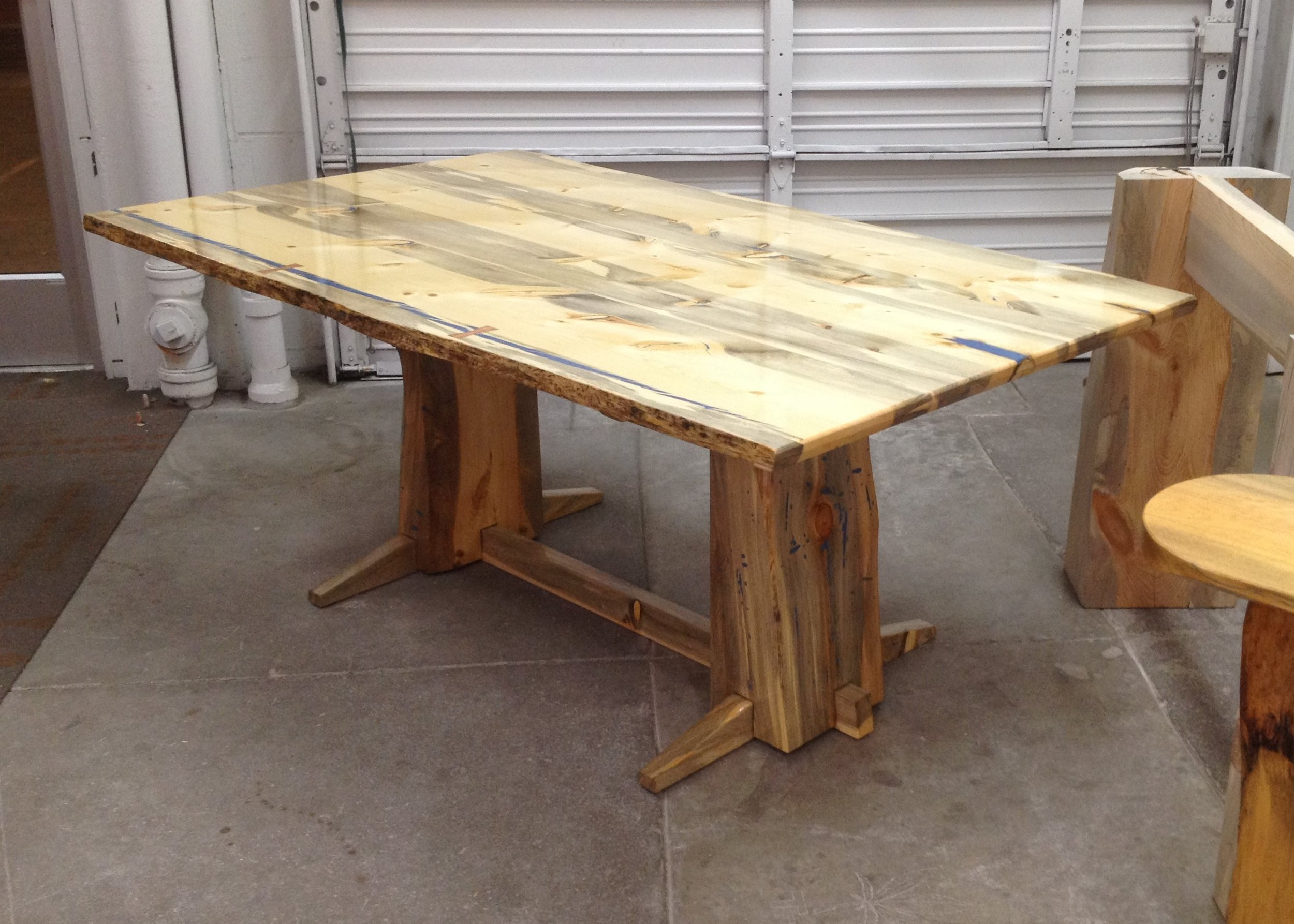 trestle style conference table