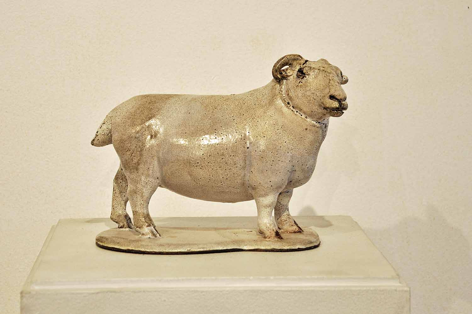 ORNAMENTAL SHEEP IN THE STAFFORDSHIRE STYLE