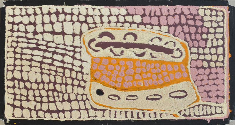 ABORIGINAL PAINTING ON LINEN