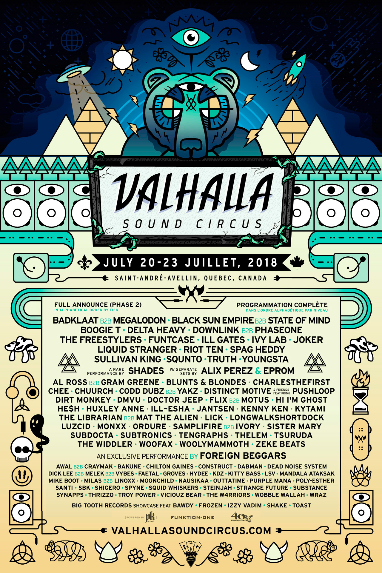 Musical Lineup for 2019 — Valhalla Sound Circus