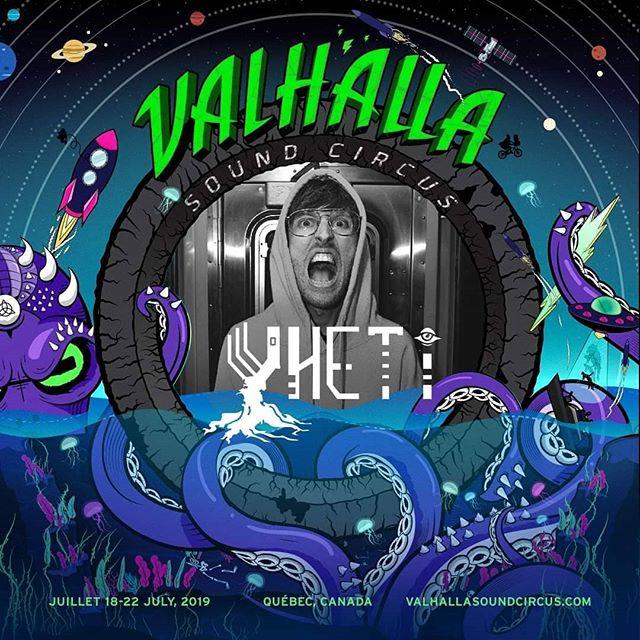 VSC 2019 Artist Announcement/Annonce D'artistes: @yhetimusic 🦑⚡ #valhallasoundcircus