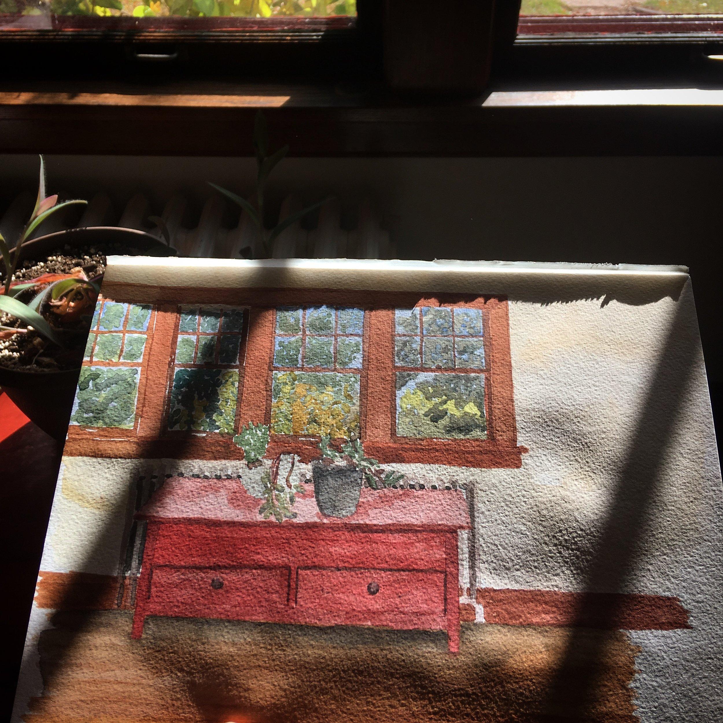 Michele's front window