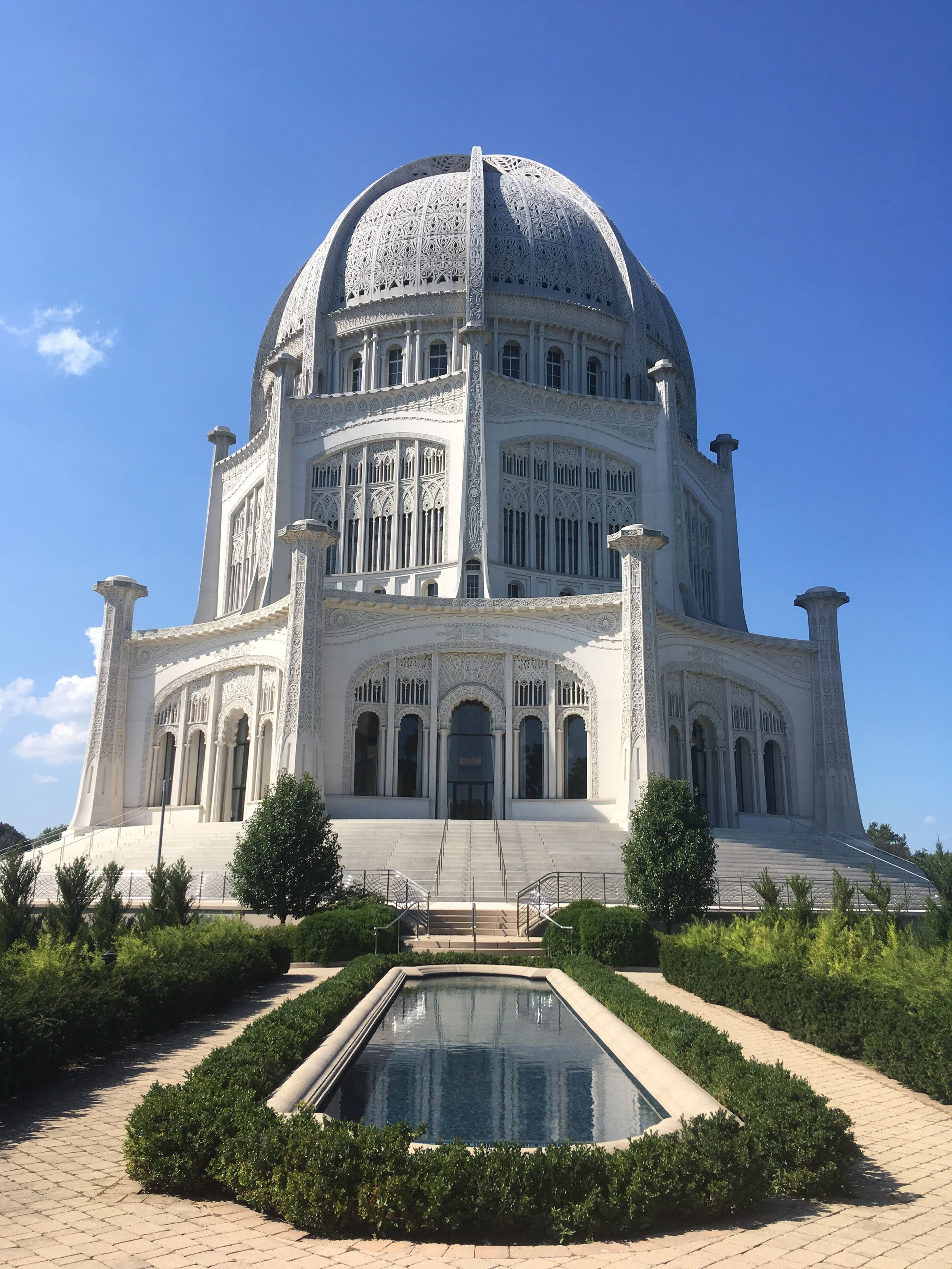 The majesty of the Baha'i Temple